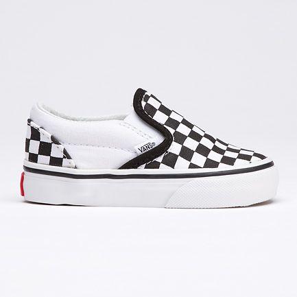 boys checkered slip on vans