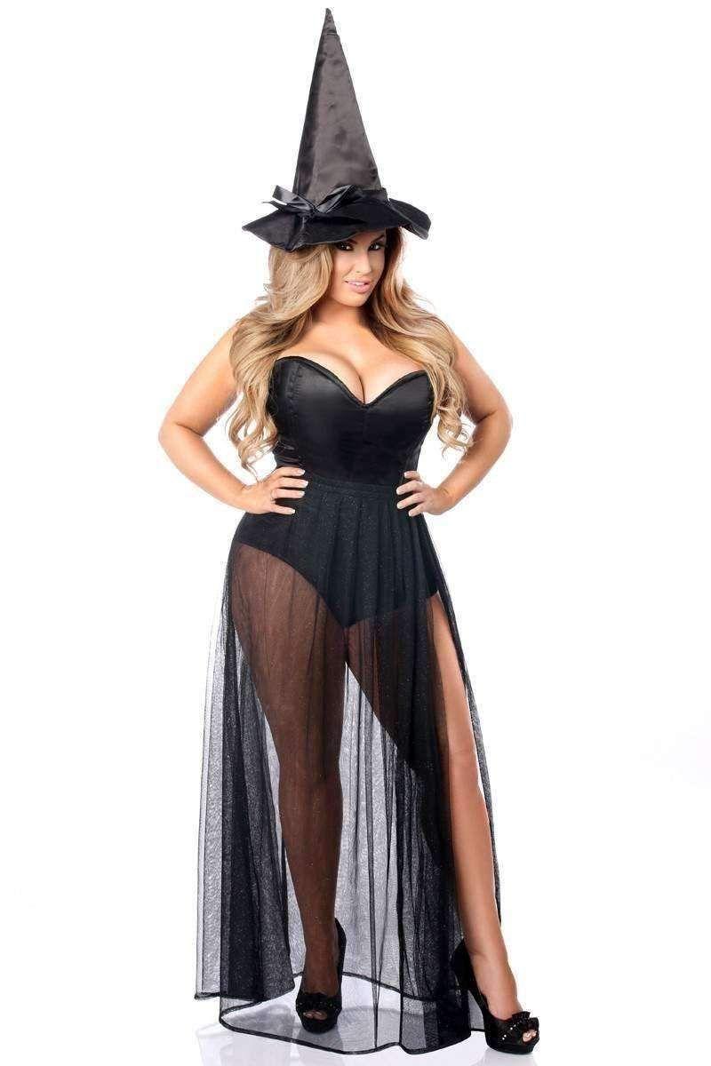 5bd4fbce29c Daisy Lavish 3 PC Evil Witch Corset Costume | Halloween costumes ...