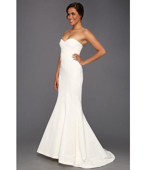 Nicole Miller Dakota Faille Trumpet Gown Size 4 Wedding Dress ...