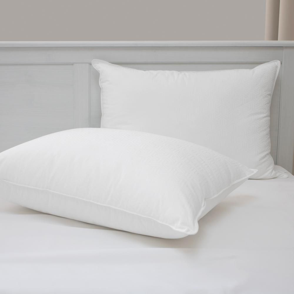 Restonic Cooling Hypoallergenic Down Alternative Standard Pillow Set Of 2 80678 The Home Depot In 2020 Hotel Quality Pillows Pillows Bed Pillows