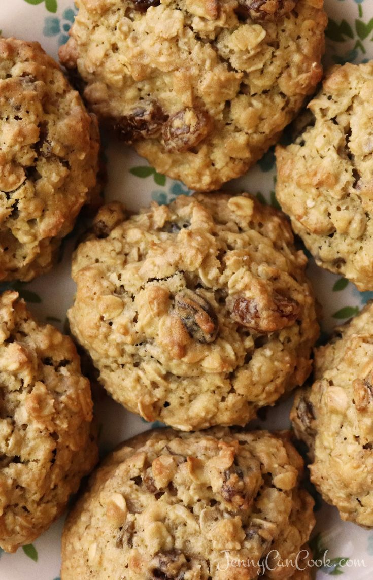 Soft and Chewy Oatmeal Raisin Cookies Without Butter  recipe from Jenny Jones Jenny Can Cook Easy recipe Should you be here now it is likely you have an acquaintance whos...