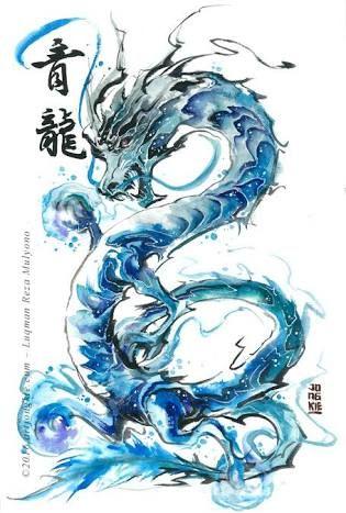 Dragon Luqman Reza Mulyono Order An Oil Painting Of Your Pet Now At Www Petsinportrait Com Watercolor Dragon Tattoo Dragon Artwork Dragon Drawing
