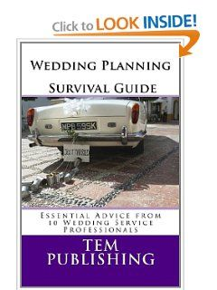 Wedding Planning Survival Guide: Essential Advice from 10 Wedding Service Professionals by Tem Publishing. $7.91. Publisher: CreateSpace Independent Publishing Platform (January 13, 2012). Publication: January 13, 2012. Wedding Planning Survival Guide is a compilation of interviews with industry experts, who have shared their insider tips and advice on how to plan the perfect wedding.                                                         Show more                               ...