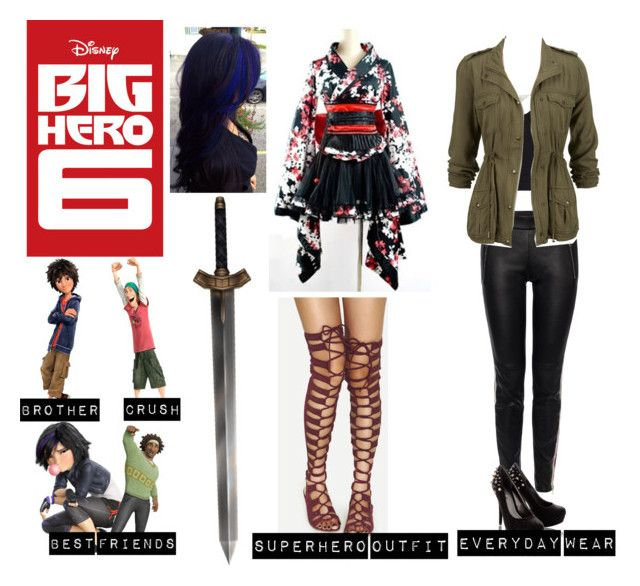"""Me in Big Hero 6"" by moon-and-back-babe123 ❤ liked on Polyvore featuring Disney, Alexander McQueen, Blink and Alexander Wang"