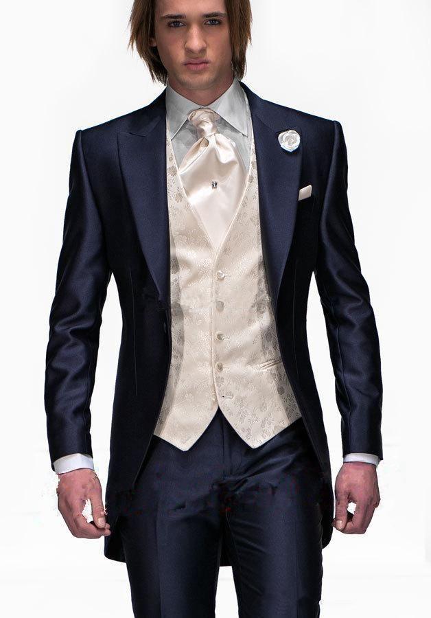 Mens Light Grey Suits Jacket Pants Formal Dress Men Suit Set men ...