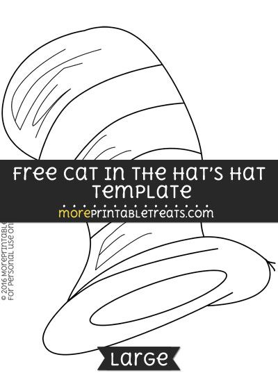 Dr Seuss Hat Template Printable. cat in the hat clipart