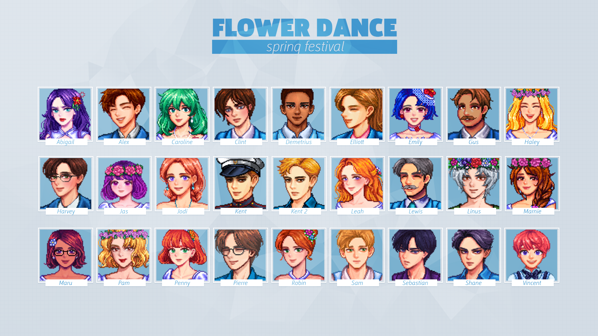 Baechu S Portraits For Seasonal Villager Outfits At Stardew Valley Nexus Mods And Community