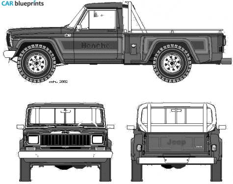 1981 jeep honcho pick up blueprint old school 4x4 pinterest 1981 jeep honcho pick up blueprint malvernweather Choice Image