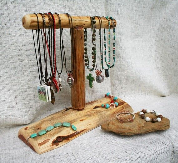 Natural Cedar Wood Necklace Display for Craft or by sundaycreek, $32.00
