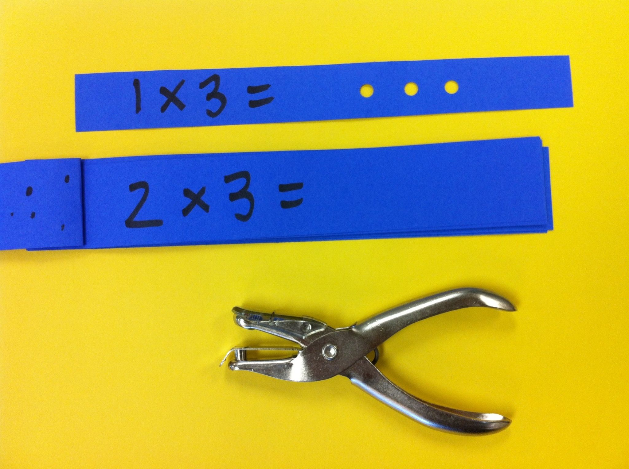 Math Strips With Hole Punch For Answers I Made These For