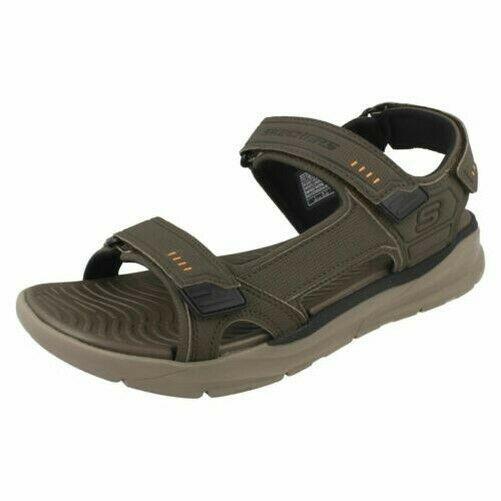 Details about hommes Skechers Relaxed Fit Memory Foam Sandals Senco