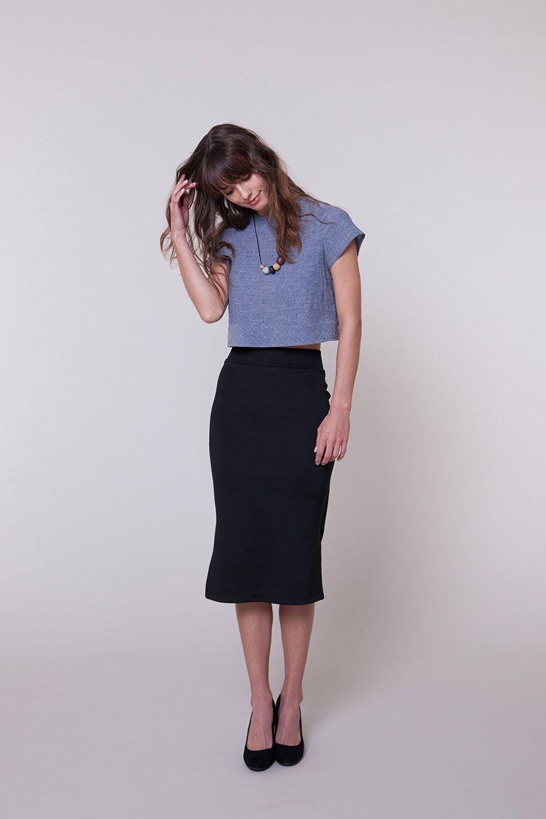 Margo knit pencil skirt seamwork 3053 pattern collection margo knit pencil skirt by seamwork also have circle skirt variation bankloansurffo Image collections
