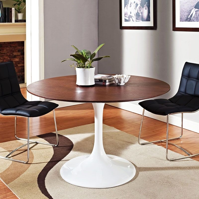 1597abf02ab0 odyssey round 47 inch walnut dining table - room view