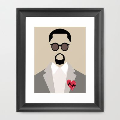 Kanye West - 808s & Heartbreak Framed Art Print by Parm Masuta - $37.00