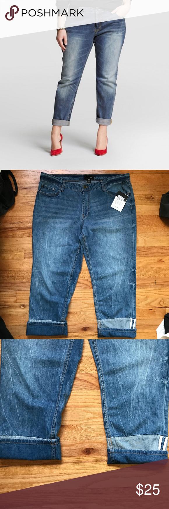 b07653ea13a Who What Wear Plus Size Boyfriend Jeans Who What Wear Plus Size Denim  Boyfriend Style Jeans