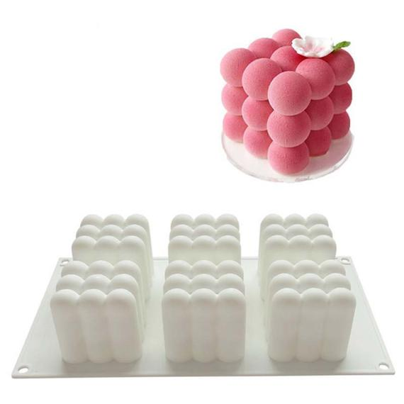 """New 6/"""" Round Silicone Cake Baking Mold Bake Brownie Dessert Pan Candy Chocolate"""