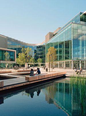 A Model Of Integrated Design The Bill Melinda Gates Foundation Campus Campus Landscape Architecture Campus Landscape Design Campus Landscape