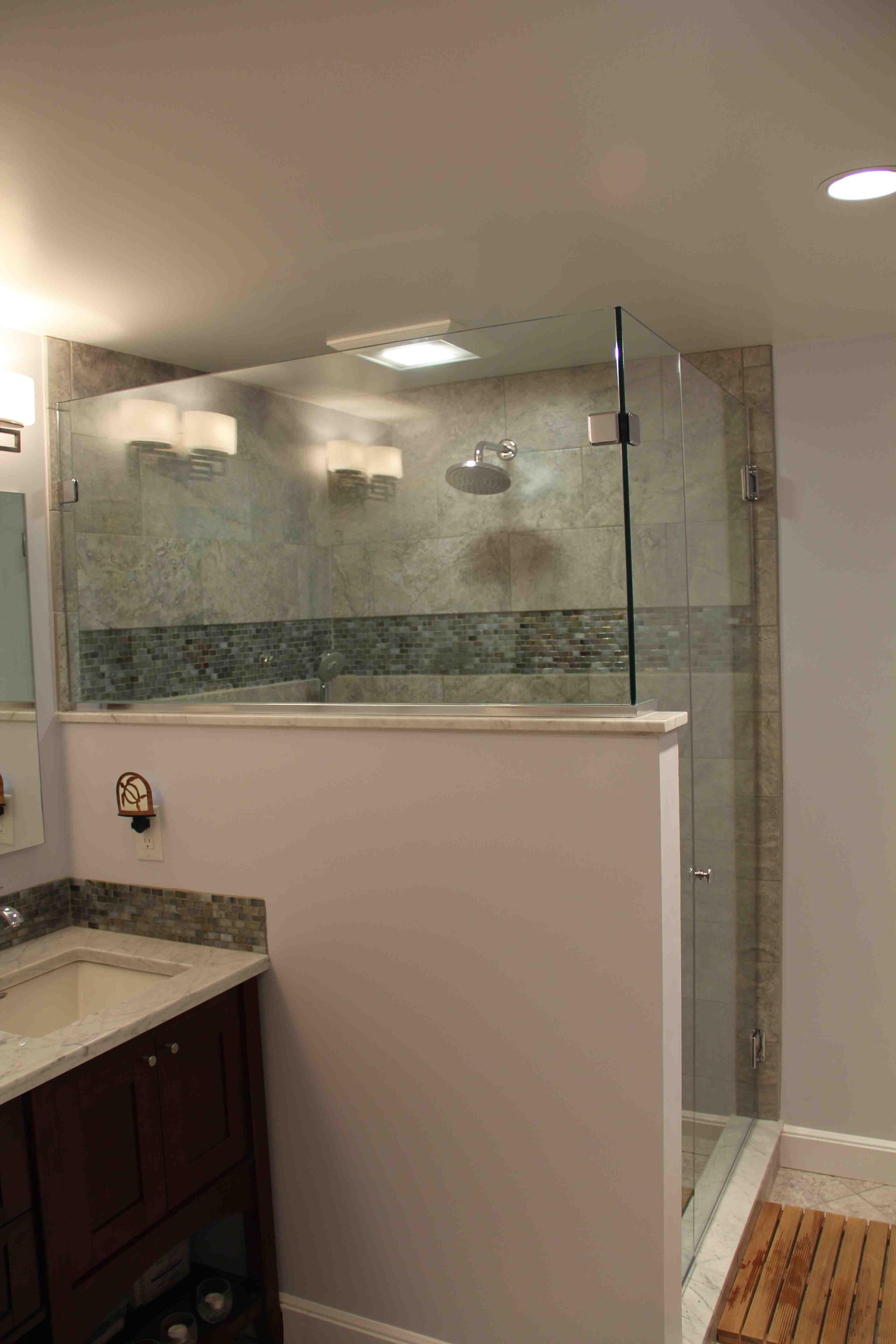 Reinforcing A Half Wall Bathroom Half Walls Bathroom