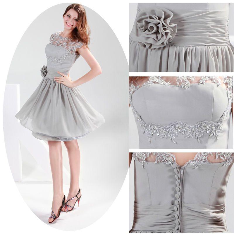 ❤Schön❤ Kurz Ballkleider Brautkleid Cocktail Hochzeitskleid ...