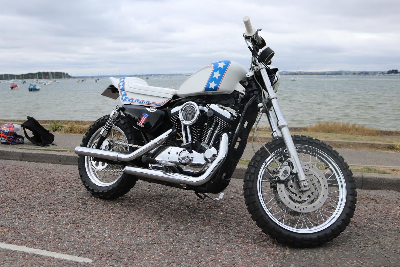 Harley davidson evil knievel inspired custom xl1200