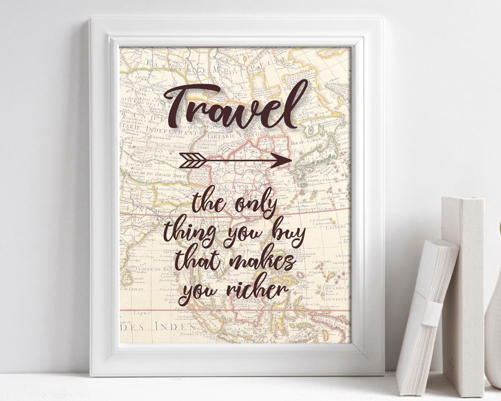 Travel Quote Poster Travel Quote Printable Travel Art Print Etsy In 2021 Travel Wall Art Travel Art Print Travel Wall