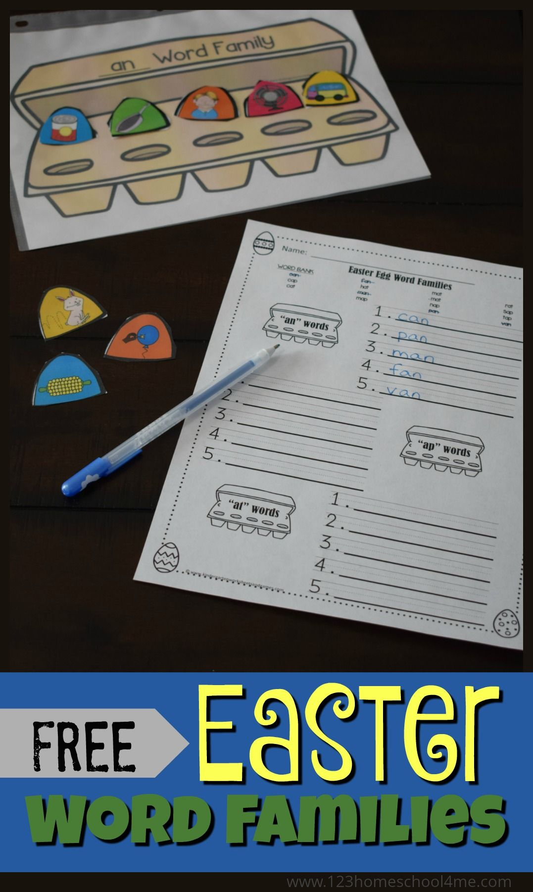 FREE Easter Word Families - fun hands on activity plus word family ...