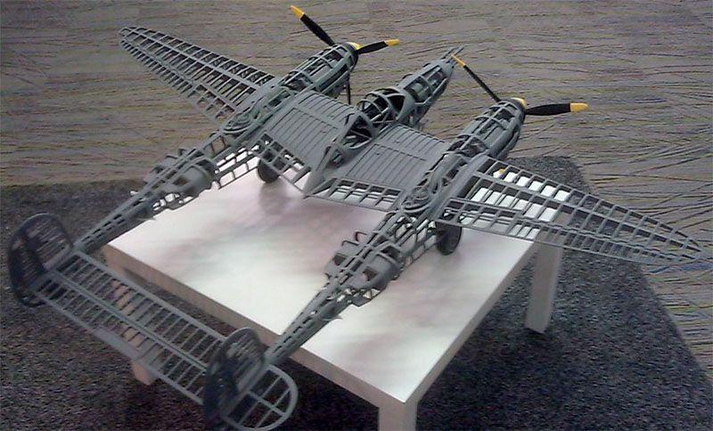 P38, 5 foot wingspan Rc planes, 3d printing, Model planes