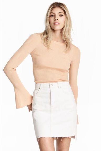 Denim skirt - White denim - Ladies | H&M 1 | Style-- | Pinterest ...