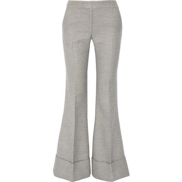 Co Damen Schlaghose aus einer Woll-Seidenmischung - reduziert ($1,110) ❤ liked on Polyvore featuring accessories