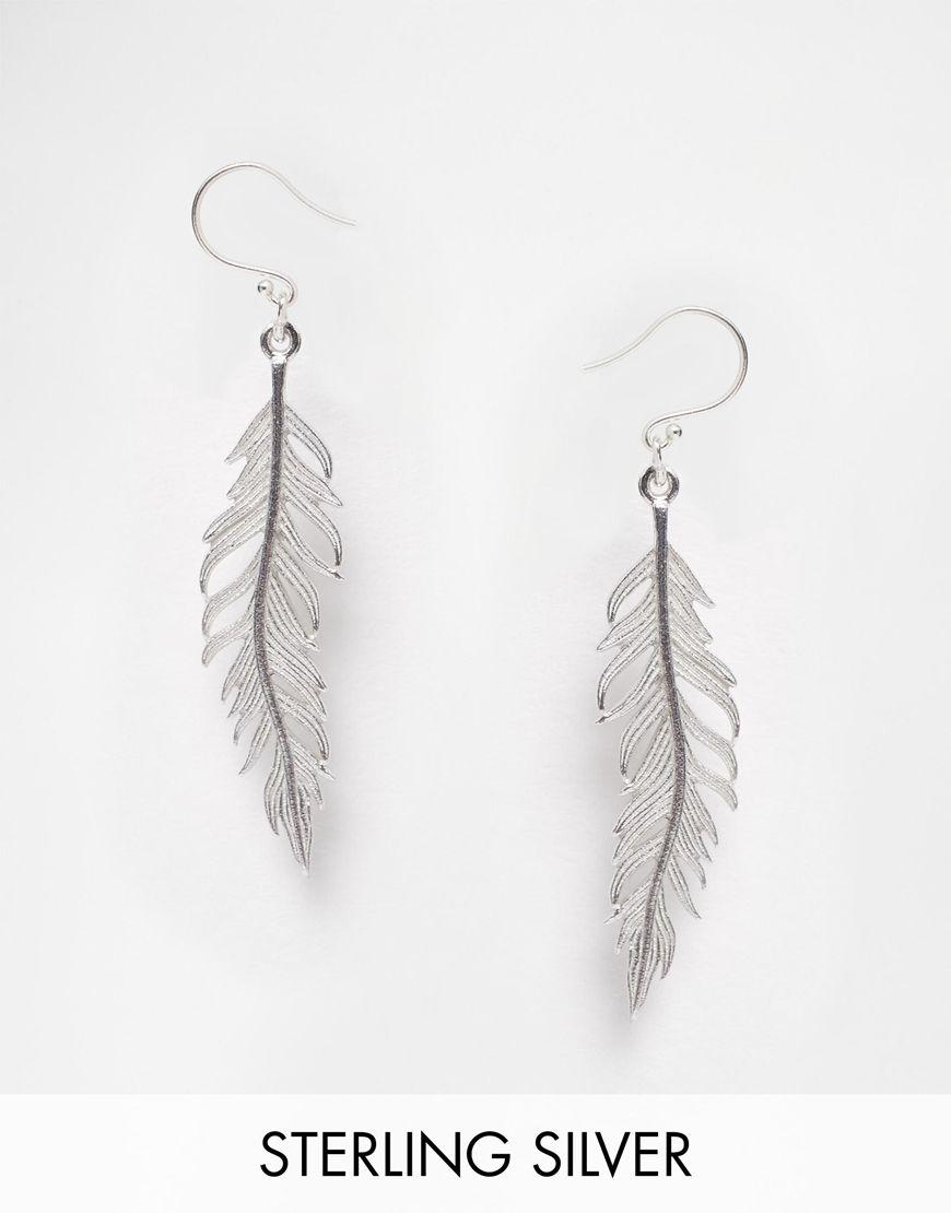 Pieces Julie Sandlau Sterling Silver Jill Feather Drop Earrings