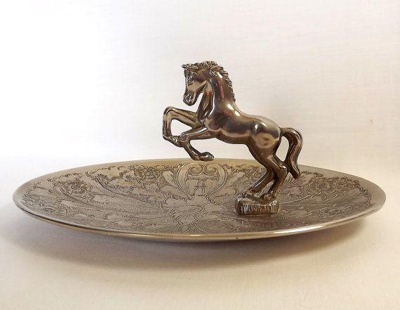 Seba silver plated horse pin dish trinket dish by MaisonMaudie, $25.00