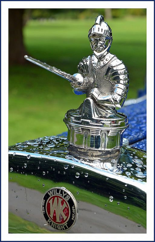 1929 Willys Knight In Shining Armor Hood Ornaments Classic
