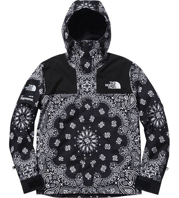 8566a077 Supreme X North Face Black Bandana Jacket Flawless quality and warm for  cold days. Made from cotton, polyester and nylon with a 100% cotton lining.