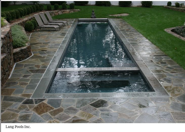 Perfect Small Lap Pool And Hot Tub