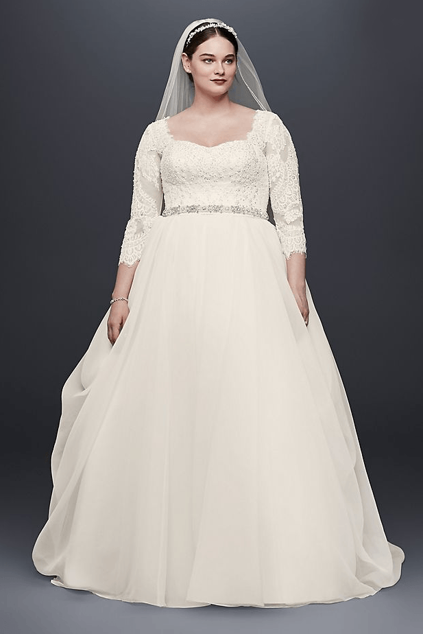 Modest Plus Size Wedding Dresses With Sleeves