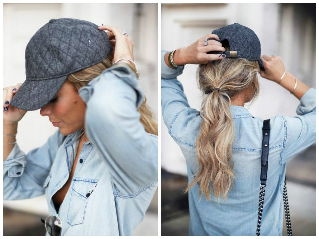 The Best Hairstyles To Wear With A Baseball Cap Baseball Cap Hairstyles Hat Hairstyles Baseball Hat Hairstyles