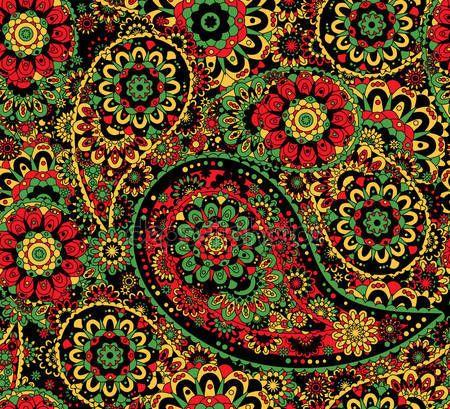 Traditionelle Orientalische Nahtlose Paisley Muster Dekorative Verzierung Fur Stoff Textil Geschenkpapier Khokhloma Orientalisch Illustration Verzierungen