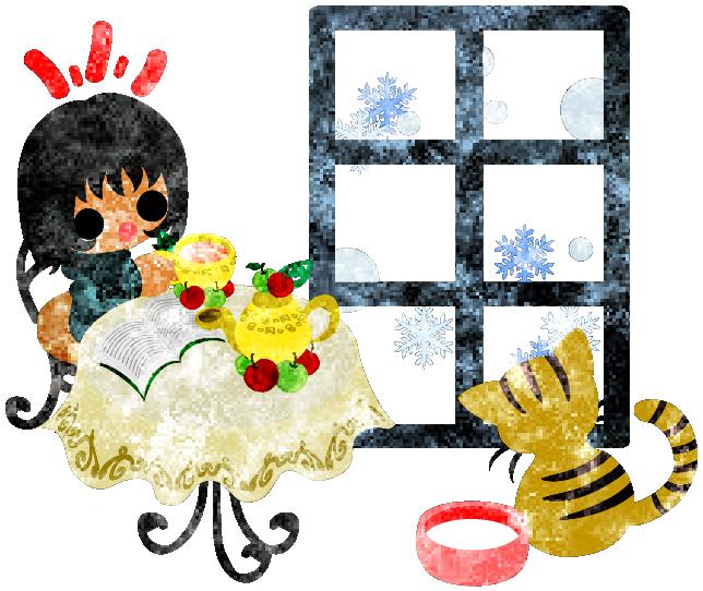 フリーのイラスト素材冬と女の子の可愛いイラスト -窓の外は雪-  Free Illustration The cute illustration of winter and girls -Snowy outside the window-   http://ift.tt/2fMugMh