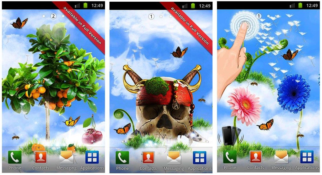 Sky Flowers Hd 12 Best Free Android Live Wallpaper Apk Download