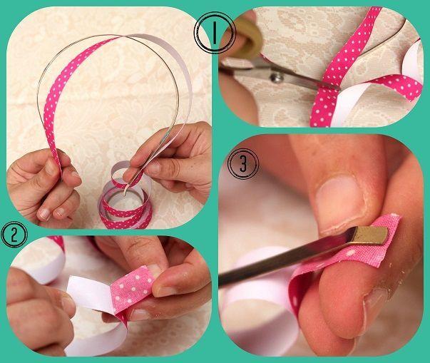 DIY-Tutorial - Diademas con Fabric Tape #fabrictape DIY-Tutorial: Diadema & Fabric Tape - 1 #fabrictape