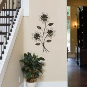 Stratton+Home+Decor+Three+Flower+Bunch+Metal+Wall+Art | Art: Flowers ...