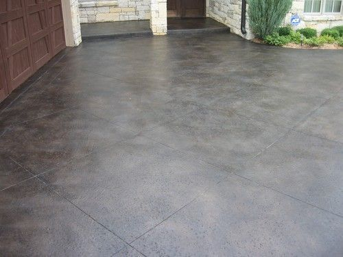 Stained Black Concrete Driveway Google Search Concrete Patio Makeover Colored Concrete Patio Concrete Patio