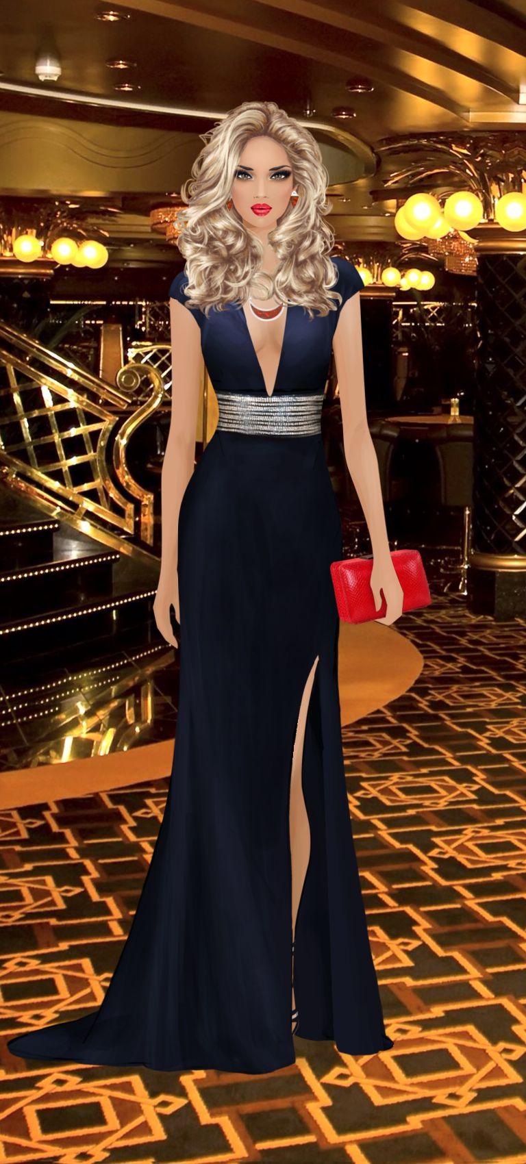 Monte Carlo Casino Party | Vestidos, Bonecas de moda e