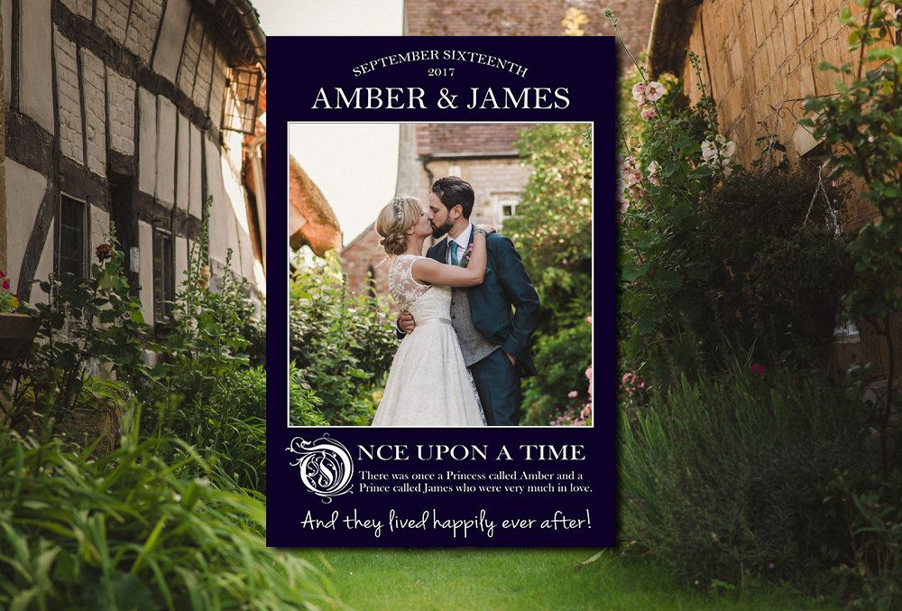 Fairytale Wedding Polaroid Photo Booth Frame Frames Diy Instagram Props
