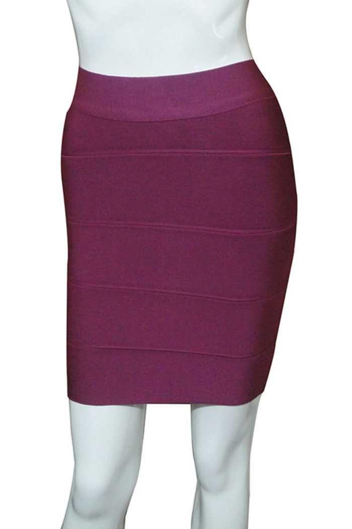 Herve Leger Purple Mini Short Bandage Skirt
