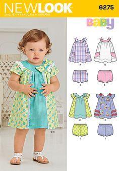 74c3cdfcc58a New Look 6275 Babies' Dress and Panties
