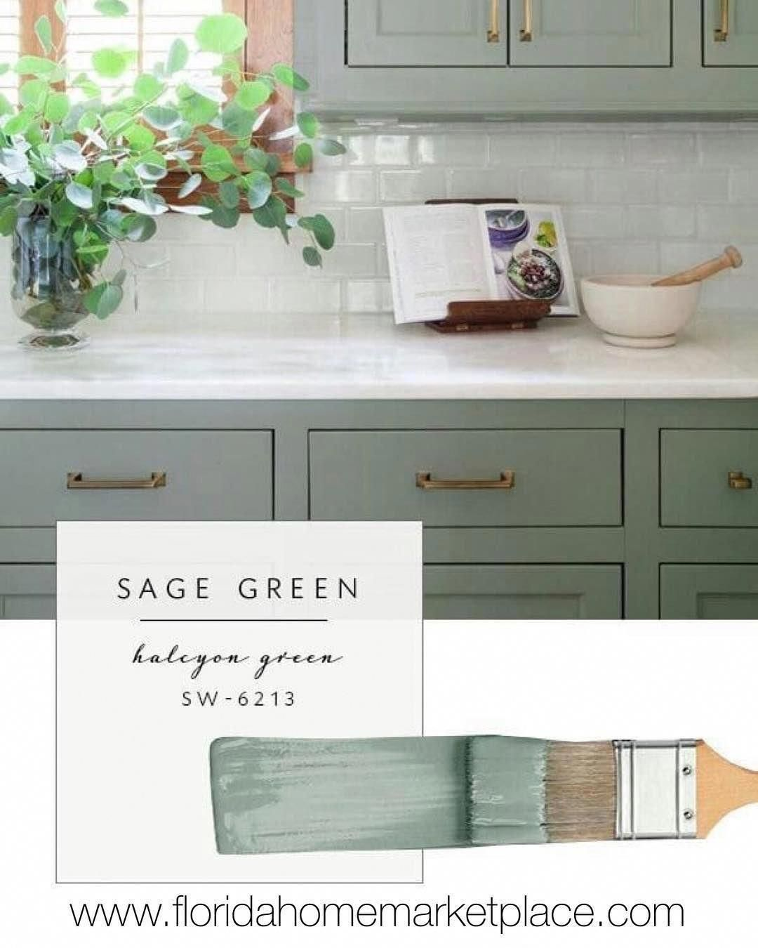 Really Trending Are Green Kitchens With Modern Details Kitchen Kitchentrends Homede Kitchen Cabinet Colors Green Kitchen Cabinets Kitchen Cabinets Makeover