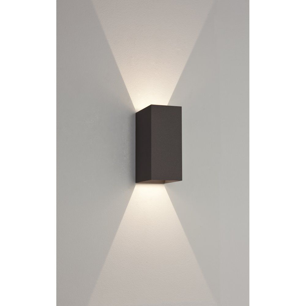 Astro 7061 oslo 160 2 light led outdoor wall light ip65 for Exterior led lights