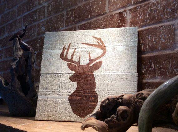 Handmade+Cedar+wood+buck/stag/deer+antler+by+SimplyRustiqueDecor,+$35.00