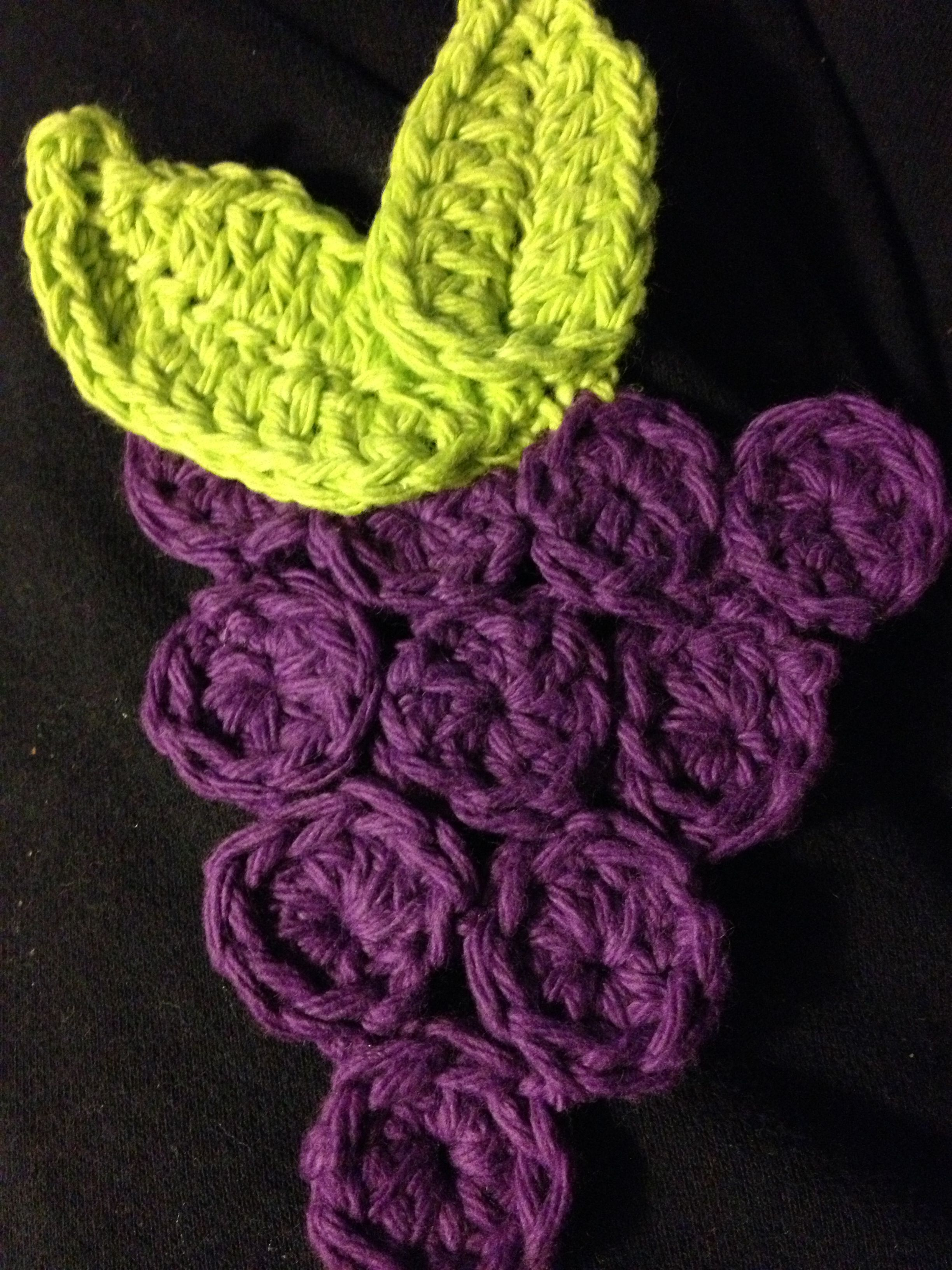 Crochet grapes coaster by Dawned On Me Crochet ~ materials: 4.5mm ...